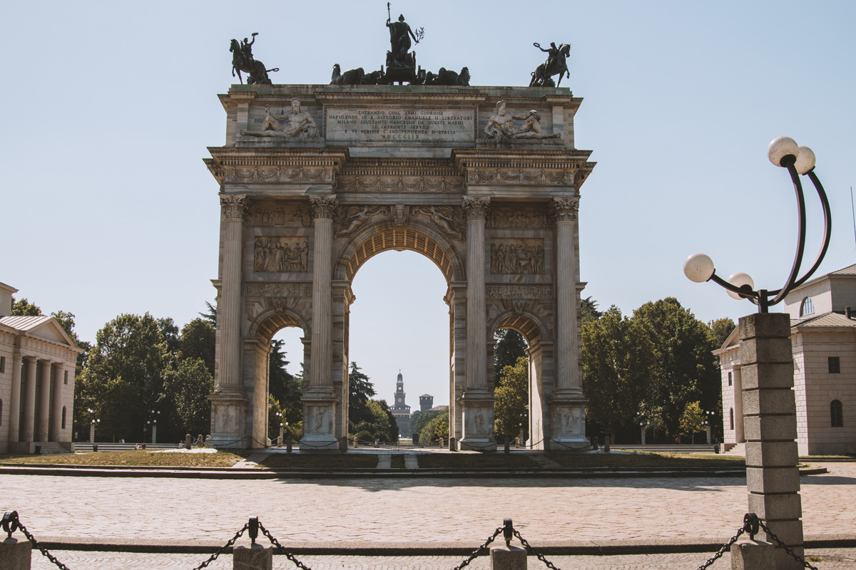 Arco della Pace: Wochenende in Mailand