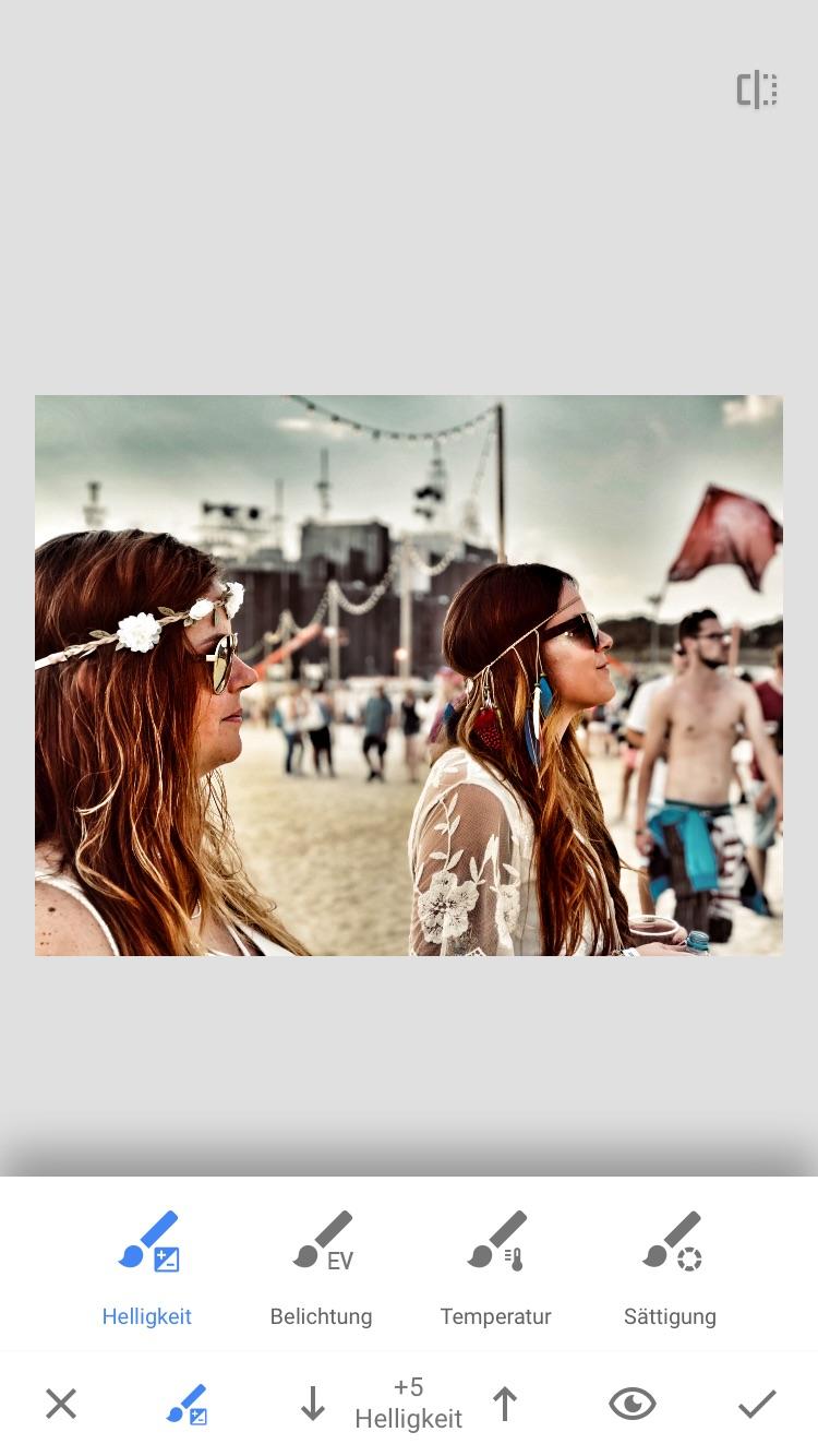 Bilder mit Snapseed bearbeiten