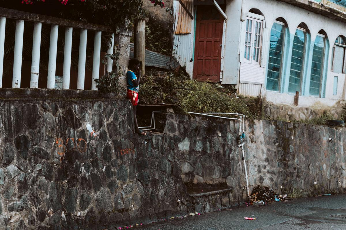 St. Lucia Straßenszene
