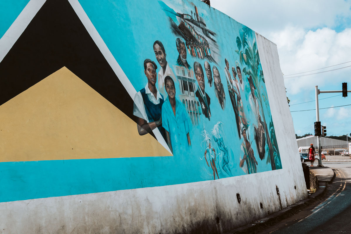 Mural in St. Lucia