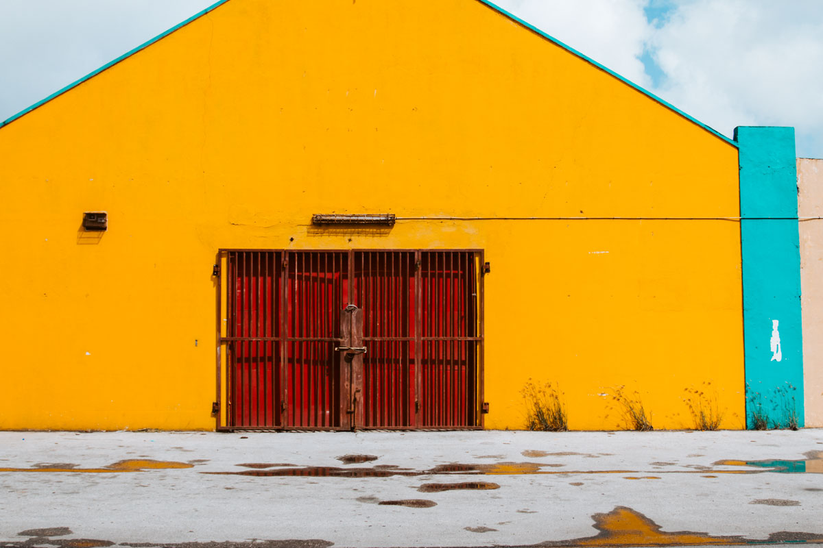 yellow warehouse