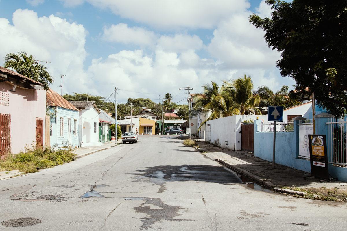 Straße in Curacao